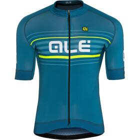 Alé Cycling Graphics PRR Salita Maillot de cyclisme à manches courtes Homme, lagoon-flou yellow